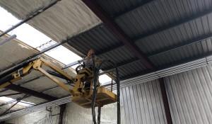 Warehouse Icynene Project Installation