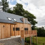 Scottish larch cladding side view