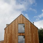 Scottish larch cladding front view