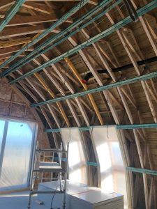 Timber Curved Roof Prep