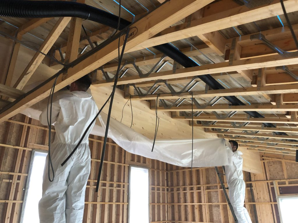 Masking and protection to timber